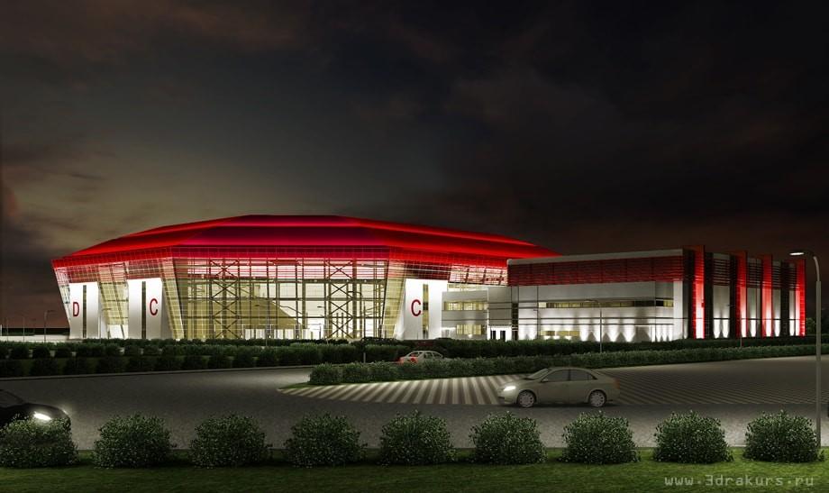 спортивный комплекс ночь
