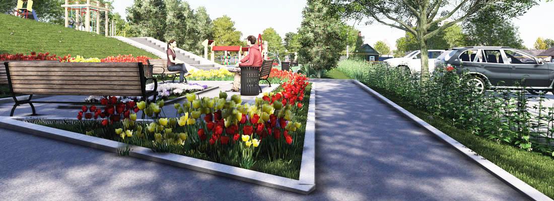 визуализация парка
